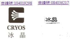 Cryos Taiwan Trademark