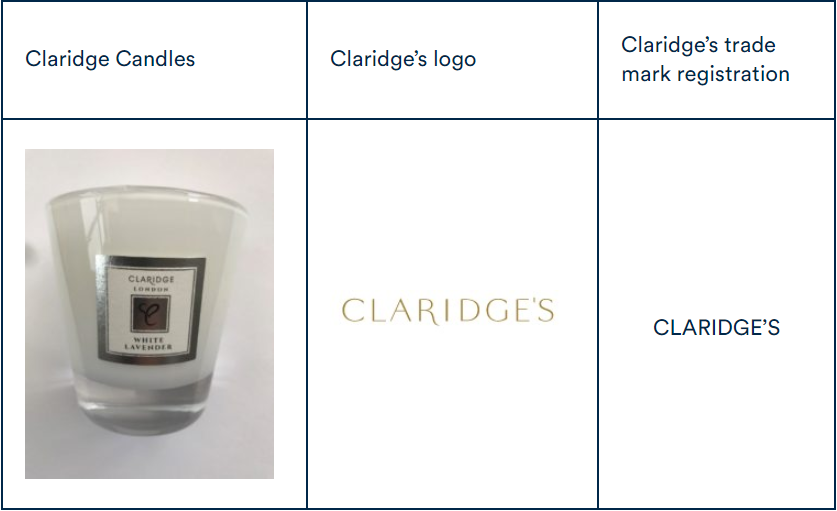 Claridge Logo Comparison
